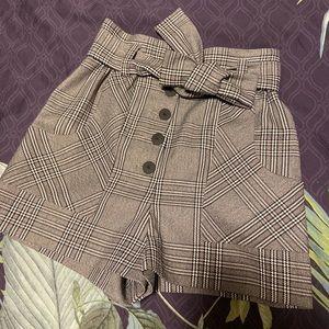 Maje plaid shorts
